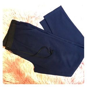 Sanctuary pleated, tapered joggers, navy